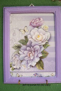 Quadrinho Flores Lilás