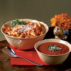 Pasta Arrabiata   MyRecipes.com I Love love love this recipe, gonna try it with some chicken tonight. :)
