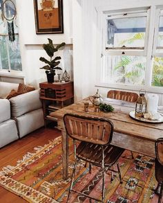 love those chairs and the boho decor