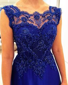 Love the details n the color! Blue Wedding Dresses, Blue Dresses, Prom Dresses, Engagement Dresses, Lace Dress With Sleeves, African Fashion Dresses, Groom Dress, Beautiful Gowns, Dress Outfits
