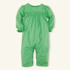 Striped Coverall - Layette One-Pieces - RalphLauren.com