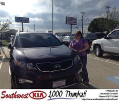 https://flic.kr/p/G2buin | Happy Anniversary to Dee on your #Kia #Sorento from Steve Kravetz at Southwest KIA Rockwall! | deliverymaxx.com/DealerReviews.aspx?DealerCode=TYEE