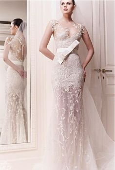 Zuhair Murad (minus that bow) absolutely breathtaking, delicate, whimsical