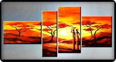 EL RINCON DE MIS AFICIONES: ¡PINTURA MODERNISTA! CUADROS PINTADOS A MANO. Africa Painting, Cuadros Diy, African Art, Rock Art, Decoupage, Canvas, Inspiration, Image, Home Decor