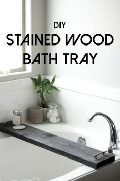 This DIY bath tray will make your bath even more heavenly. Functional and beautiful all wrapped into one.