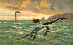 Is Nessie, the Loch Ness Monster, really a plesiosaur trapped in a giant inland lake, descended to us from the Jurassic Period? Here's the real scoop . Weird Creatures, Fantasy Creatures, Sea Creatures, Avatar World, Field Museum, Loch Ness Monster, The Loch, Lake Champlain, Prehistoric Creatures