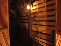 pallets on their own lend a creepy vibe to any space...