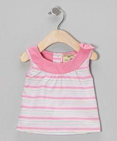 Look what I found on #zulily! Light Pink Stripe Organic Yoke Top - Infant & Toddler #zulilyfinds
