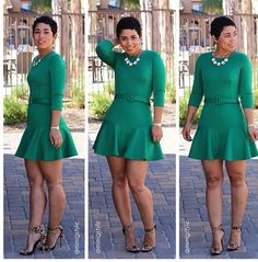 Mimi G. Fitted flared dress