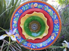 Fiesta Glass Ceramic Garden Plate. $35.00, via Etsy.