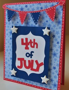 4th of July Card- An Inspired Craftroom