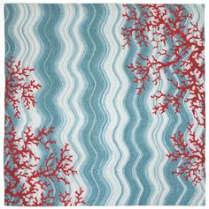 Trans-Ocean Imports VGHS8325503 Visions Iv Collection Blue Finish Lamontage Rug