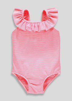 ddc09ced782bf Girls Stripe Textured Swimming Costume (9mths-6yrs) Matalan, Holiday Outfits,  Holiday