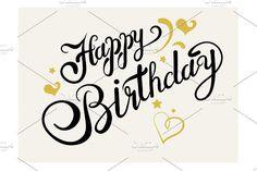 Happy Birthday. Lettering. Script Fonts. $5.00