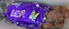 LSU Doggie Chewing Blanket. $10.00, via Etsy.