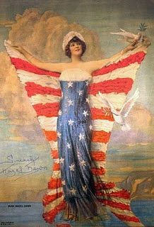 Ms Liberty ~ Miss Hazel Dawn of July Inspiration; Independence Day, the red white and blue, stars and stripes! American Pride, American Flag, American History, Vintage Postcards, Vintage Images, Vintage Cards, Patriotic Images, Patriotic Posters, Patriotic Symbols