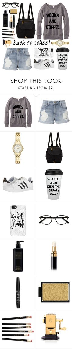 """back to school shopping!"" by stylesbyava ❤ liked on Polyvore featuring Frame, Kate Spade, Marc Jacobs, adidas, Casetify, EyeBuyDirect.com, Victoria's Secret, Chanel, NYX and Buxom"