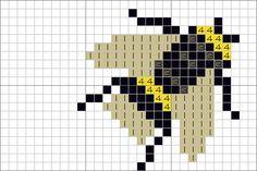 Bumblebee hama perler beads pattern