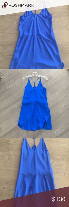 Parker Cobalt Blue Draw String Dress in Small Parker Cobalt Blue Draw String Dress in Small. It is brand new and in perfect condition! Parker Dresses Mini