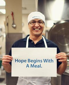 Hope begins with a meal. #Homelessness #Edmonton