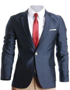 a235184cff5a FLATSEVEN Homme Slim Fit Premium Blazer Veste  Amazon.fr  Vêtements et  accessoires