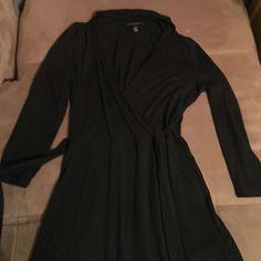 Selling this Banana Republic black wrap dress in my Poshmark closet! My username is: lala080808. #shopmycloset #poshmark #fashion #shopping #style #forsale #Banana Republic #Dresses & Skirts