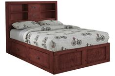 Red Full Captains Bed from Gardner-White Furniture