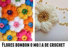 tutorial flores crochet bombon