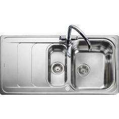 Rangemaster Houston 985x508 1.5 Bowl Stainless Steel HS9852   Appliances Direct