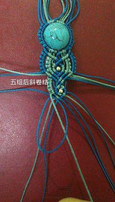 蓝颜,简单易学的一款手链。 第36步