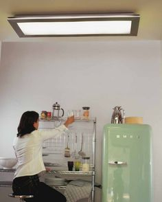 remodel flourescent light box in kitchen   We also replaced the     Kitchen Lighting Tips   Ideas
