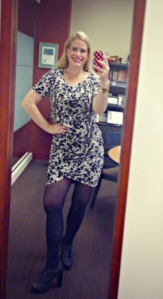 H and M dress and old favorite oxfords.