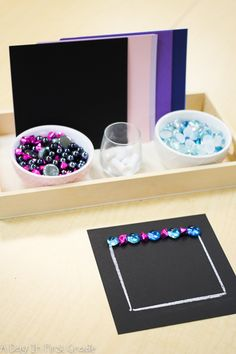 Reggio-inspired provocation while kindergarteners explored two dimensional shapes Kindness Activities, Kindergarten Math Activities, Preschool Education, Kindergarten Shapes, Preschool Shapes, Preschool Ideas, Reggio Inspired Classrooms, Reggio Classroom, Classroom Ideas