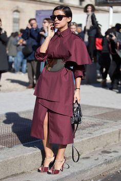 The Shoes // Street Style Paris Fashion Week - Street Style Photos from PFW - ELLE
