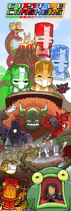 Castle Crashers Ad by JohnnyUtah | Illustration / Video Games / Castle Crashers…
