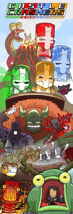 Castle Crashers Ad by JohnnyUtah   Illustration / Video Games / Castle Crashers   Newgrounds.com
