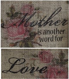 Printing colored images on Burlap