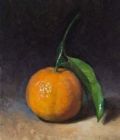 The detail on this clementine is amazing! Painting Still Life, Still Life Art, Vegetable Painting, Fruits Drawing, Fruit Illustration, Fruit Painting, Oil Painting For Sale, Wow Art, Fruit Art