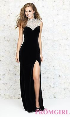High Neck Floor Length Prom Dress by Madison James at PromGirl.com