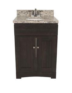 "Bathroom Vanities 24 X 21 pace roma series 24"" x 21"" 2-door vanity with bottom drawer (base"