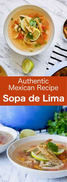 Sopa de lima is a delicious light and refreshing Mexican chicken soup with lime and crunchy tortilla strips that can be served hot or mild. #Mexico #Mexican #MexicanCuisine #YucatanCuisine #Soup #196flavors