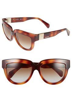 Women's Valentino 'Superstud' 56mm Sunglasses - Havana