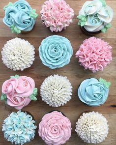 "8,527 Likes, 63 Comments - Wilton Cake Decorating (@wiltoncakes) on Instagram: ""Mother's Day is just one month away! Mom would love some buttercream flower cupcakes like these by…"""