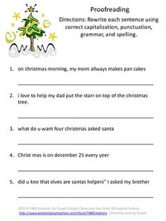 Christmas Rhymes Worksheet for Kindergarten and 1st Grade