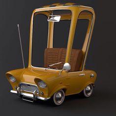 Cartoony Car [illustration] by Stanislas Paillereau, via Behance Blender 3d, 3d Character, Character Design, Foto 3d, Mini Car, Car Illustration, Illustrations, Modelos 3d, Low Poly