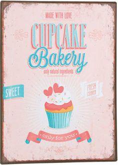 GuGus Schild Cupcake Bakery #Metallschild #Deko #sweet #madewithlove #onlyforyou #Cupcakes #Wohnen #Galaxus