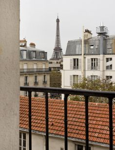 Hotel Muguet *** |  - You can get a room with a view of the Eiffel Tower-just might have to splurge! Also, it has beds for 3 ppl - -great location in 7th arrondissement