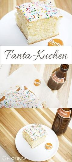 Retro-look Fanta cake revival - it always tastes good!-Fanta-Kuchen-Revival in Retro-Optik – der schmeckt immer! For the birthday there was a revival of Fanta in … - Food Cakes, Cake & Co, Eat Cake, Cake Recipes, Dessert Recipes, Fall Desserts, Ice Cream Recipes, Cakes And More, Cake Cookies