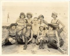 Vintage bathing beauties circa 1910.