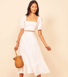 Reformation Yucca Two Piece Runway Fashion, Fashion Fashion, Fashion Outfits, Fashion Trends, Simple Dresses, Summer Dresses, Next Clothes, Thrift Fashion, Curvy Outfits